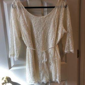 Beautiful Cream Lace Blouse